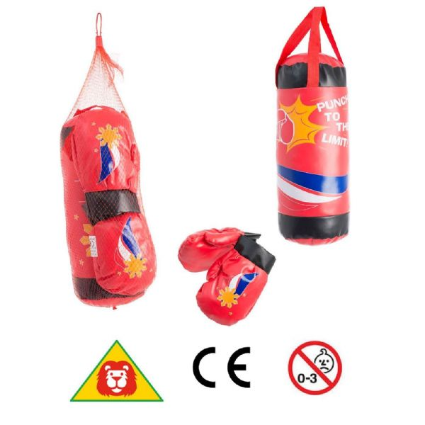 Fun Sport Boxing Bag and Gloves toy set Age 3+ Years 1372553